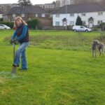 Jenni Cresswell digging holes