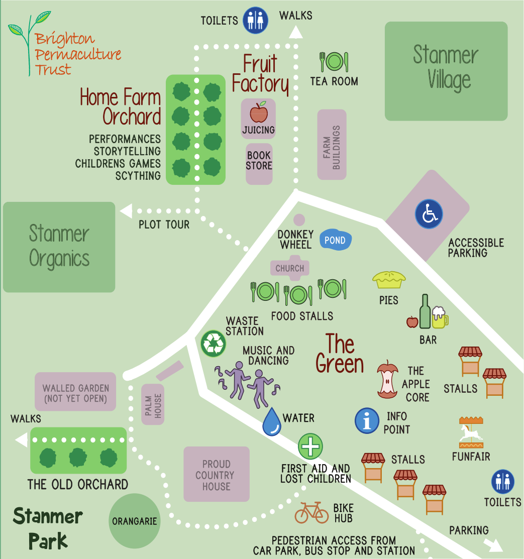 Apple Day 2019 site map