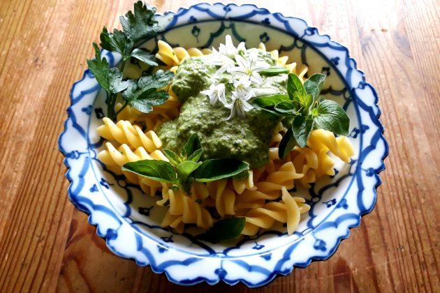 Nettle Pesto Pasta