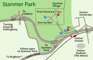 Map directions to Stanmer Park