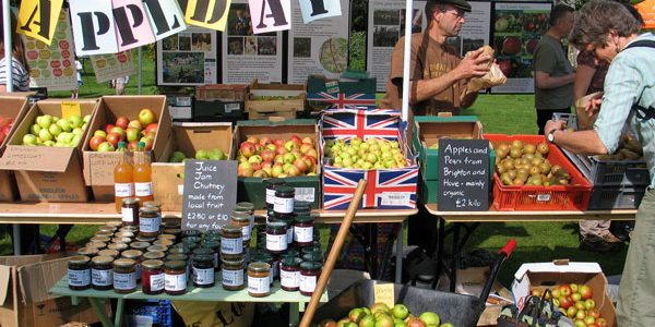 Apple Day produce stall
