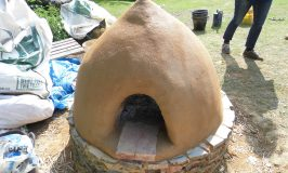finished cob pizza oven