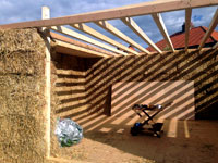 Straw bale building project